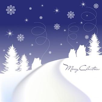 Blaue weihnachts nacht