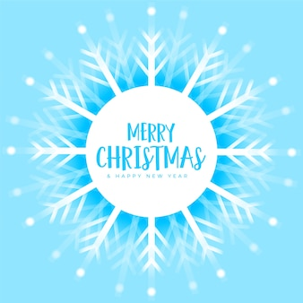 Blaue weihnachtsschneeflockendekoration winterhintergrund