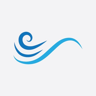 Blaue welle logo vektor. wasserwellenillustrationsschablonendesign
