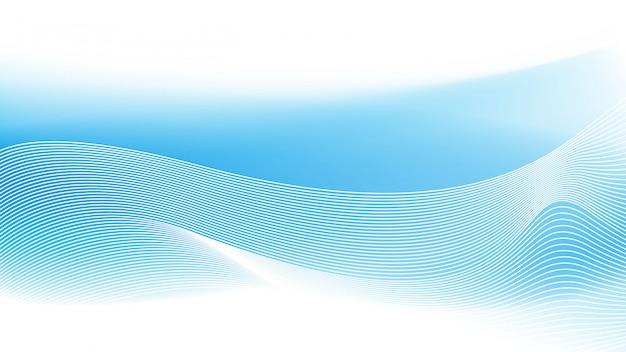 Blaue welle zusammenfassungs-hintergrund-vektorillustration.