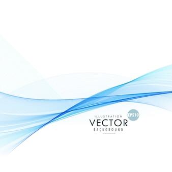 Blaue wellenlinie hintergrund-design