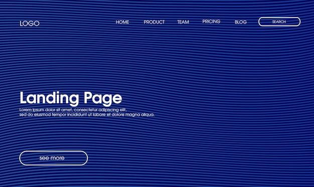 Blaue wellenlinie landing page