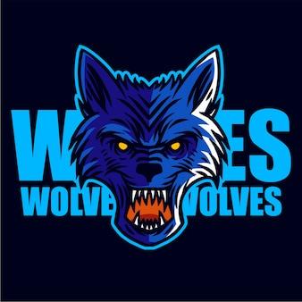 Blaue wölfe
