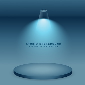 Blauem hintergrund studio