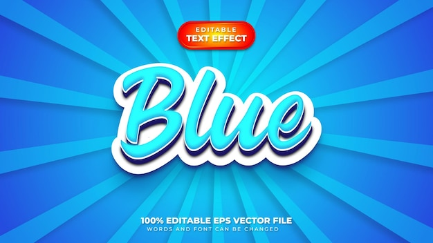 Blauer 3d-textstileffekt