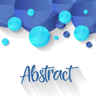 Blauer abstrakter blasen-hintergrund