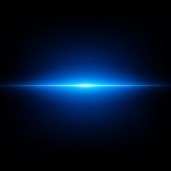 Blauer abstrakter blitz auf schwarzem hintergrund. fliegender blauer ausbruch.