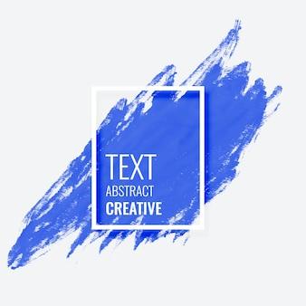 Blauer abstrakter bürstenanschlag mit textraum