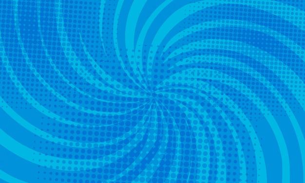 Blauer abstrakter comic-buch-hintergrund