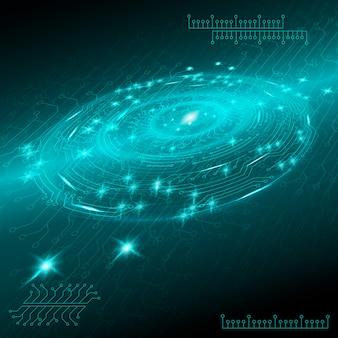 Blauer abstrakter digitaler technologischer hintergrund
