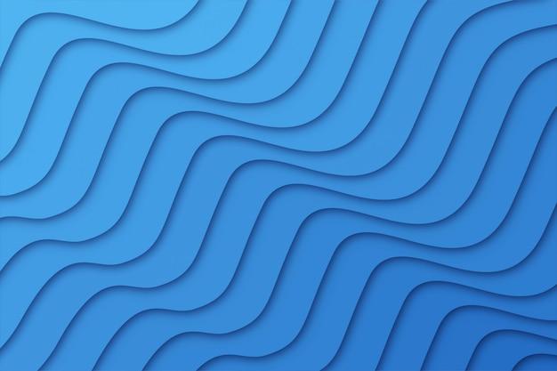 Blauer abstrakter geometrischer hintergrund der welle,