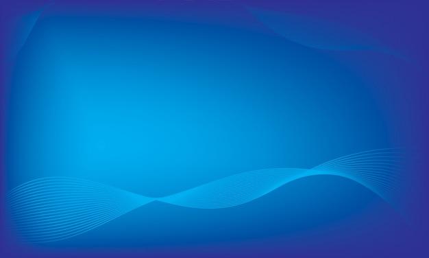 Blauer abstrakter hintergrund, blauer hintergrund der glatten welle