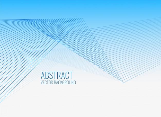 Blauer abstrakter hintergrund der geometrischen linien