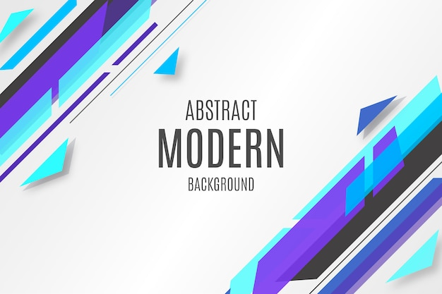 Blauer abstrakter hintergrund mit modernen formen