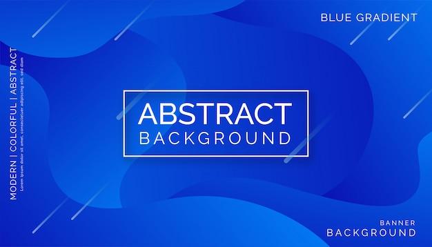 Blauer abstrakter hintergrund, modernes buntes dynamisches design