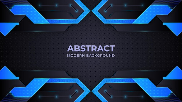 Blauer abstrakter moderner hintergrund mit geometrieformen