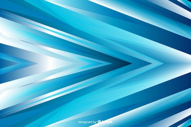 Blauer abstrakter pfeil formt hintergrund