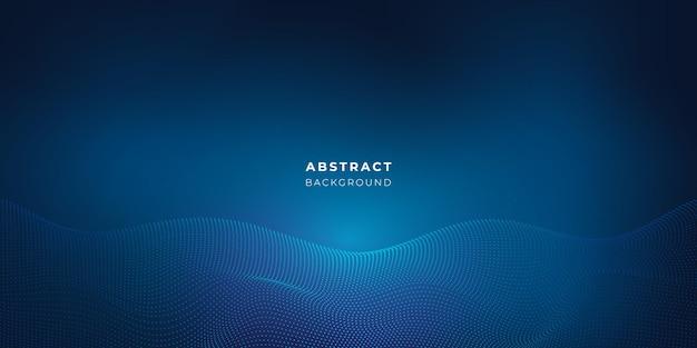 Blauer abstrakter punkt futuristischer hintergrund