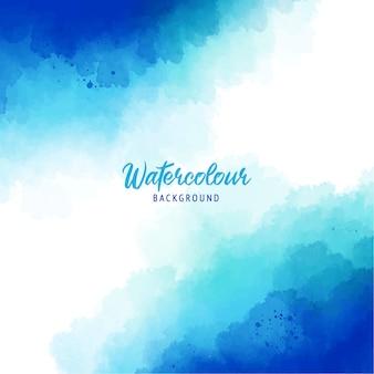 Blauer abstrakter spritzfarbenhintergrund mit aquarellbeschaffenheit