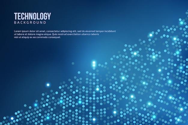 Blauer abstrakter technologie-hintergrund mit platz für text