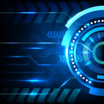 Blauer abstrakter technologiehintergrund.