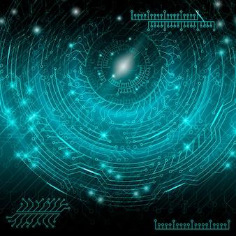 Blauer abstrakter technologischer hintergrund