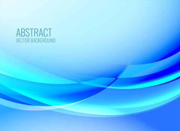 Blauer abstrakter wellenförmiger glänzender hintergrund