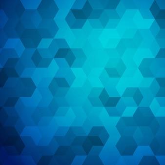 Blauer abstrakter würfelhintergrund