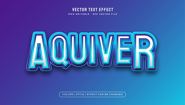 Blauer aqua-texteffekt im e-sport-stil