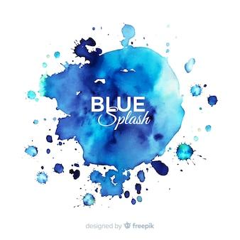 Blauer aquarell spritzen hintergrund