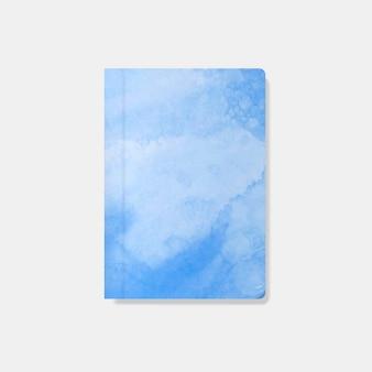 Blauer aquarellart-fahnenvektor