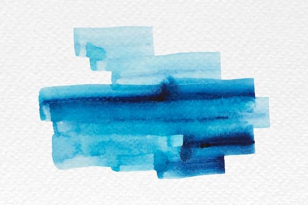Blauer aquarellpinselstrichvektor