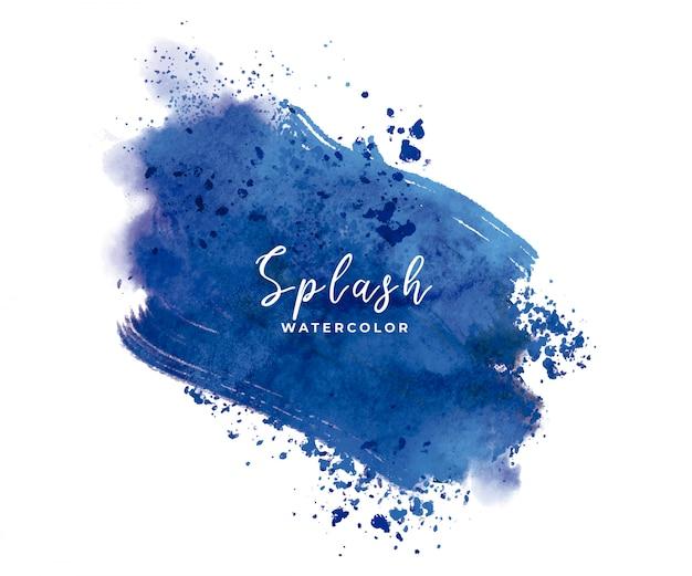 Blauer aquarellspritzer