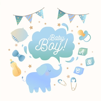 Blauer babypartyjunge