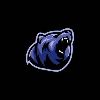 Blauer bär illustration