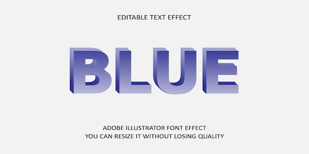 Blauer bearbeitbarer texteffekt