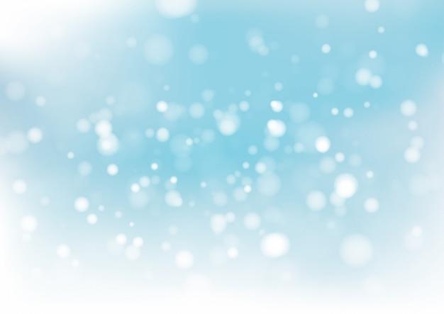Blauer bokeh abstrakter hintergrund. vektor-illustration
