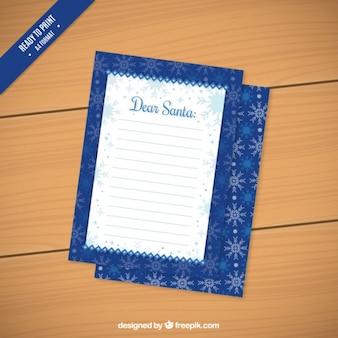 Blauer brief an den weihnachtsmann