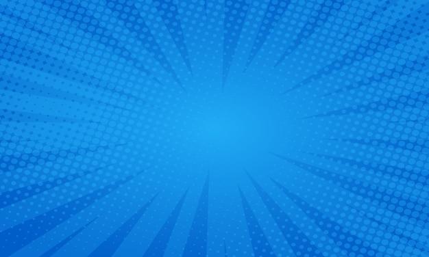 Blauer comic-stilhintergrund