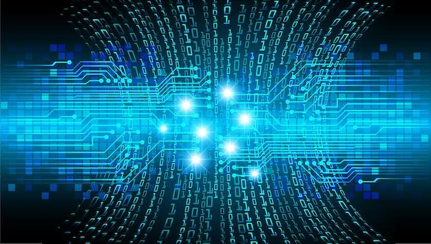 Blauer cyber-circuit-zukunftstechnologie-konzepthintergrund