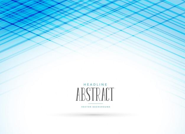 Blauer darstellungshintergrund mit linie effekt