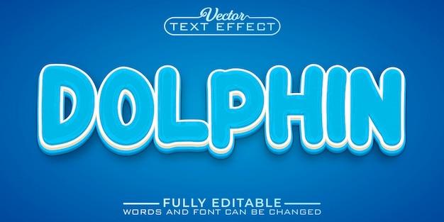 Blauer delphin bearbeitbare texteffektvorlage