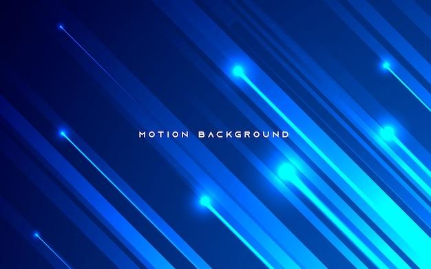 Blauer diagonaler bewegungslichthintergrund