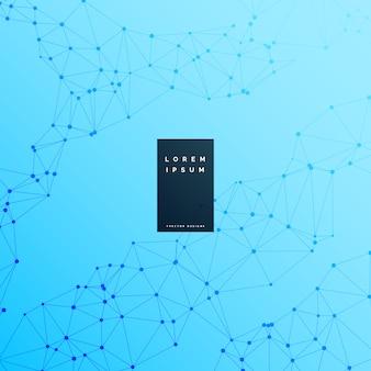Blauer digitaler wireframe wissenschaftshintergrund