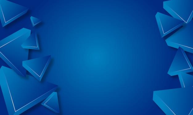Blauer dreieck-zusammenfassungs-hintergrund