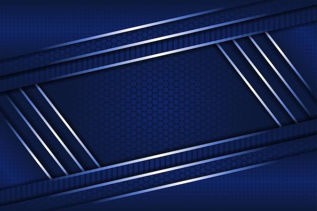 Blauer farbverlauf des abstrakten geometrischen hintergrunds.