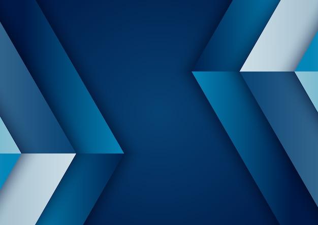 Blauer farbverlauf des abstrakten hintergrunds geometrisch