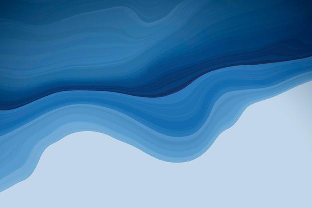 Blauer, flüssig gemusterter hintergrund