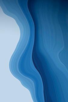 Blauer flüssig gemusterter hintergrundvektor