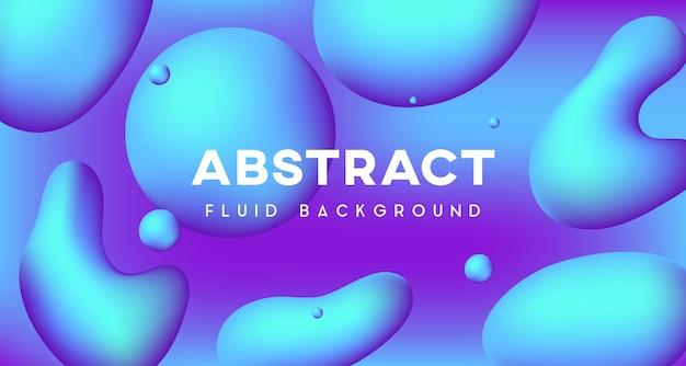 Blauer flüssiger abstrakter hintergrund 3d